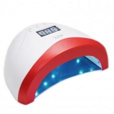 "Лампа для маникюра UV LED Lamp ""SUN 1S"", 48 Вт, цвет корпуса - бело-красный"