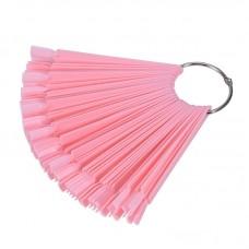Палитра для гель лаков веер на кольце, Розовая