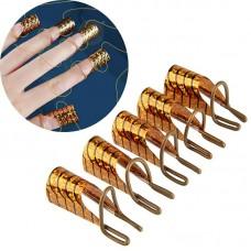 Многоразовые формы для наращивания ногтей уп. 5 шт (золото)