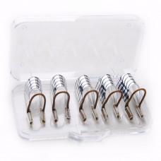 Многоразовые формы для наращивания ногтей уп. 5 шт (серебро)