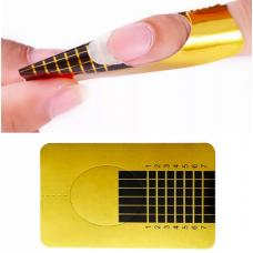 Формы для наращивания ногтей (золото узкие) уп. 500 шт.