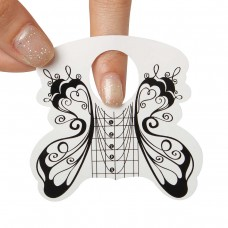 Формы для наращивания ногтей поштучно (бабочка ч/б)