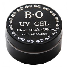B*O, УФ-гель Гель для наращивания прозрачный (Clear) 18 мл
