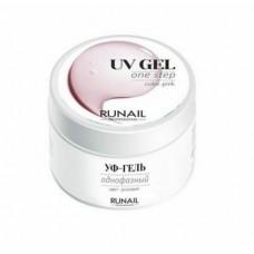 ruNail, Однофазный УФ-гель - Розовый 15 г.
