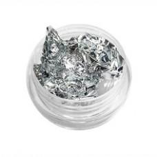 Поталь для ногтей. Сусальная фольга - Серебро