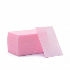 Безворсовые салфетки (Розовые) 100 шт.