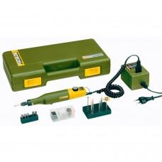 PROXXON Аппарат для маникюра и педикюра Набор с цанговым зажимом с регулятором скорости (ТРАНСФорматор, 34 РАСХ., В ЧЕМОДАНЕ)