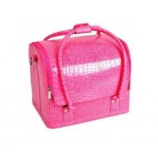 TNL, Кейс Розовый для мастера ногтевого сервиса или визажиста,  30х23х25