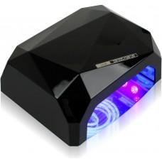 Лампа LED+CCFL для маникюра Черная  «Даймонд» 36 Вт