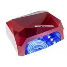 Лампа LED+CCFL для маникюра Красная  «Даймонд» 36 Вт